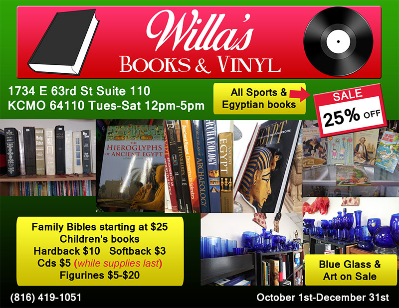 Willa's Books and Vinyl SALE